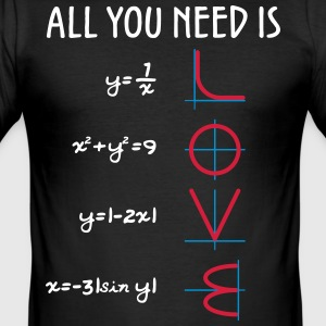 All you need is Love (Equations) - Männer Slim Fit T-Shirt