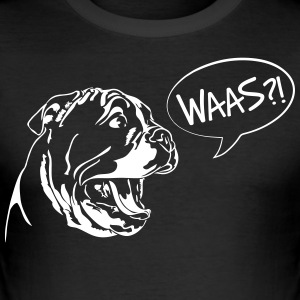 Waas?! - English Bulldog Welpe - Männer Slim Fit T-Shirt