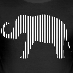 Elefant i strimler - Herre Slim Fit T-Shirt