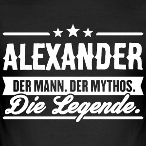 Man Myth Legend Alexander - Slim Fit T-skjorte for menn