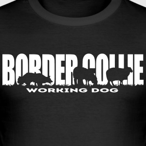 Border collie Brukshund - Slim Fit T-shirt herr