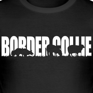 BORDER COLLIE WERKENDE HOND - slim fit T-shirt