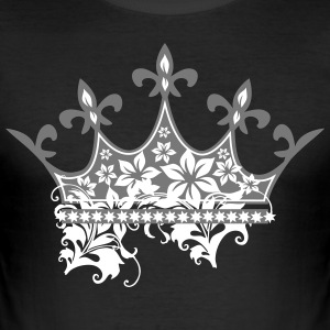 Crown with ornaments - Men's Slim Fit T-Shirt