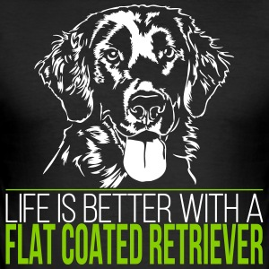 Life is better with a FLAT COATED RETRIEVER - Men's Slim Fit T-Shirt