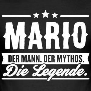 Man Myth Legend Mario - Slim Fit T-skjorte for menn