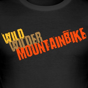 Wild, wild, mountain bike - Men's Slim Fit T-Shirt