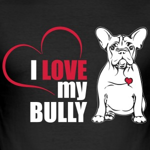 I LOVE MY BULLY - Herre Slim Fit T-Shirt