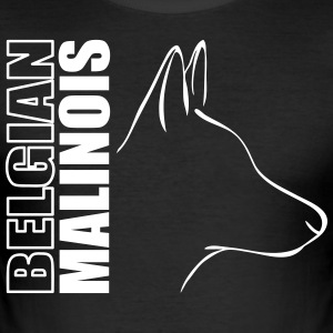BELGIAN MALINOIS PROFILE - Men's Slim Fit T-Shirt
