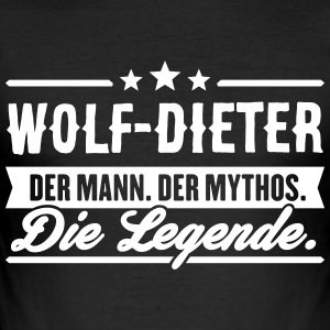 Man Myte Legend Wolf-Dieter - Herre Slim Fit T-Shirt