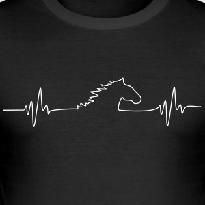 HORSEfrequency_Pferdeherzschlag - Tee shirt près du corps Homme