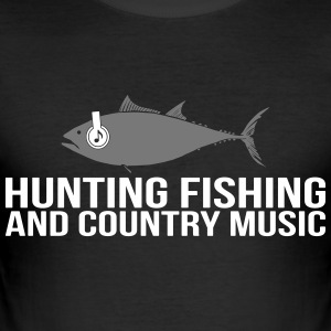 Hunting Fishing and Country Music - Männer Slim Fit T-Shirt