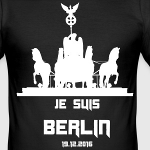 Je suis BERLIN 2016/12/19 - Herre Slim Fit T-Shirt