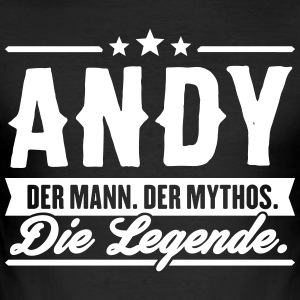 Mann Mythos Legende Andy - Männer Slim Fit T-Shirt