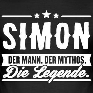 Man Myth Legend Simon - Slim Fit T-skjorte for menn
