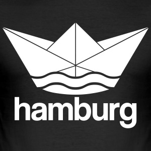 Hamburg Design Papierschiff - Männer Slim Fit T-Shirt