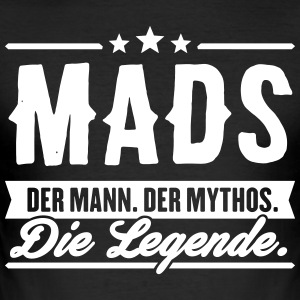 Mann Mythos Legende Mads - Männer Slim Fit T-Shirt