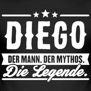 Mann Mythos Legende Diego - Männer Slim Fit T-Shirt