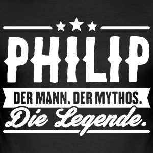 Man Myth Legend Philip - Men's Slim Fit T-Shirt