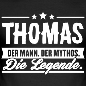 Man Myth Legend Thomas - Slim Fit T-skjorte for menn