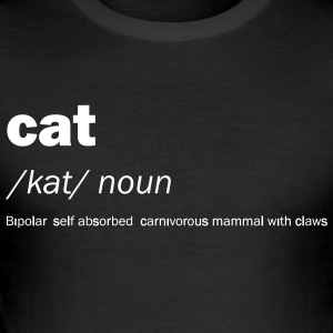 Cat definitie en betekenis - Grappig - slim fit T-shirt