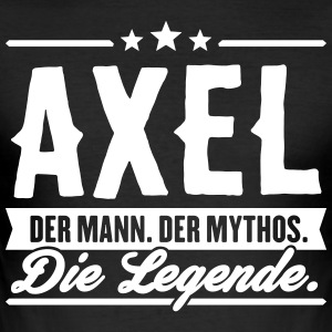 Mann Mythos Legende Axel - Männer Slim Fit T-Shirt