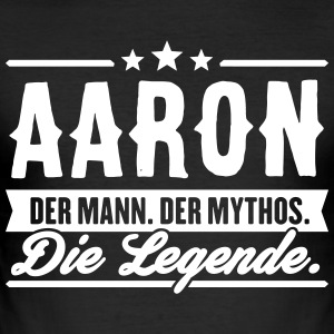 Man Myth Legend Aaron - Slim Fit T-skjorte for menn