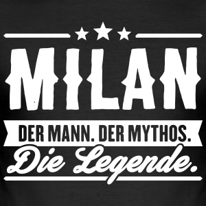 Man Myth Legend Milan - Slim Fit T-skjorte for menn