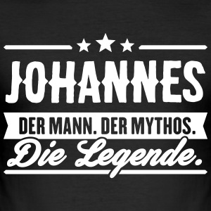 Mann Mythos Legende Johannes - Männer Slim Fit T-Shirt