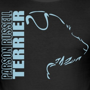 Parson Russell Terrier PROFIL - Slim Fit T-skjorte for menn