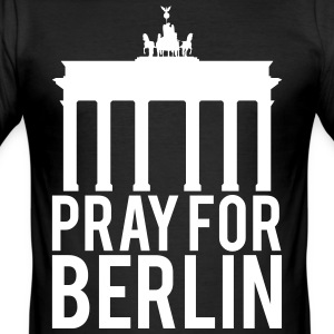 Pray for Berlin. Beds for Berlin - Men's Slim Fit T-Shirt