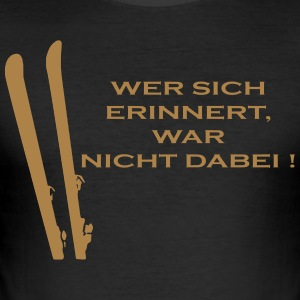 wintersport - Männer Slim Fit T-Shirt