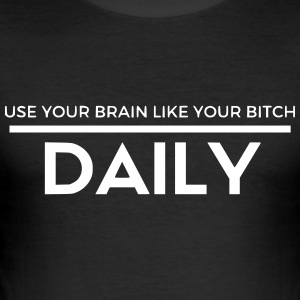 Use your brain - Men's Slim Fit T-Shirt