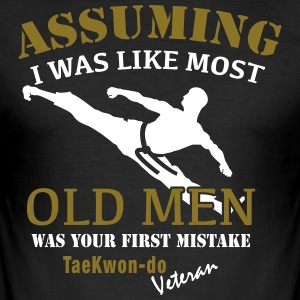 Tae Kwon Do Veteran Male - Men's Slim Fit T-Shirt