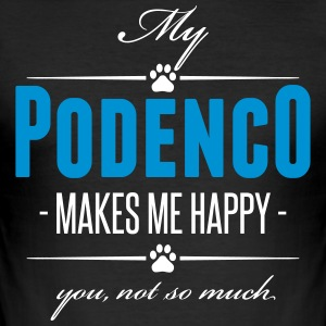 My Podenco makes me happy - Männer Slim Fit T-Shirt