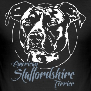 AMERICAN STAFFORDSHIRE TERRIER 2 - Männer Slim Fit T-Shirt