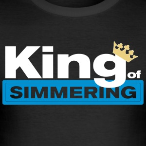 King of Simmering - Männer Slim Fit T-Shirt