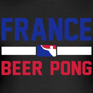 Frankrig Beer Pong - Herre Slim Fit T-Shirt