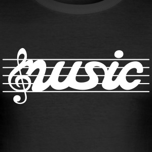 music musik - Männer Slim Fit T-Shirt