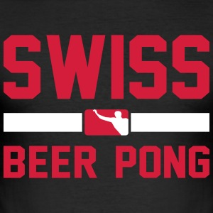 Swiss Beer Pong - Herre Slim Fit T-Shirt
