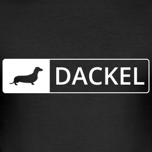 Dackel - Schild - Männer Slim Fit T-Shirt