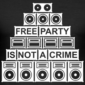 FREE PARTY IS NOT A CRIME - SOUND SYSTEM 2014 - Männer Slim Fit T-Shirt