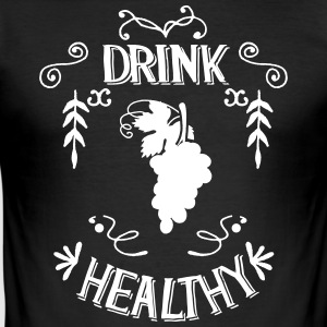 Drink Healthy - Männer Slim Fit T-Shirt