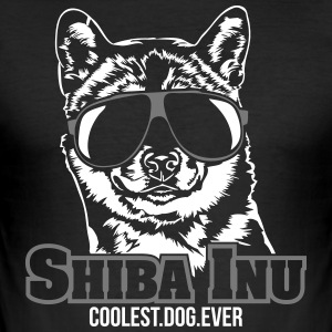 SHIBA INU coolest dog - Men's Slim Fit T-Shirt
