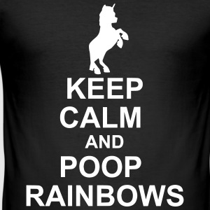 Keep Calm Unicorn - Slim Fit T-shirt herr