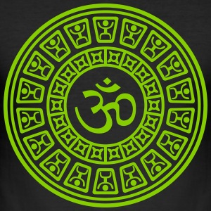 Om Maya One Color - Männer Slim Fit T-Shirt