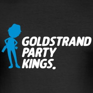 Gold Beach party Kings - Slim Fit T-shirt herr