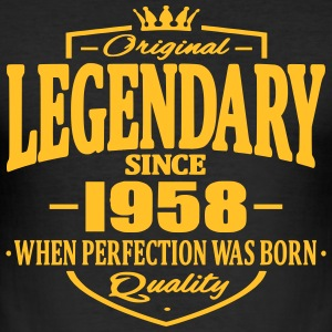 Legendary siden 1958 - Herre Slim Fit T-Shirt