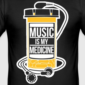 Music is my medicine - Männer Slim Fit T-Shirt