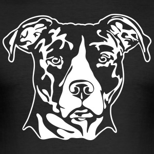 AMERICAN STAFFORDSHIRE PORTRAIT - Männer Slim Fit T-Shirt
