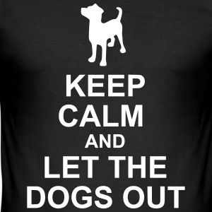 Keep Calm Dog Hotel - Männer Slim Fit T-Shirt